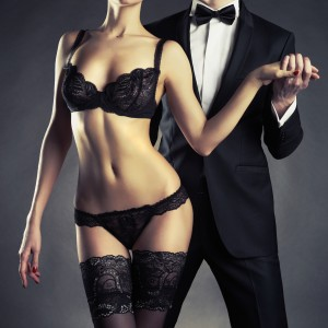 shutterstock_147115205 - sexy tuxedo couple