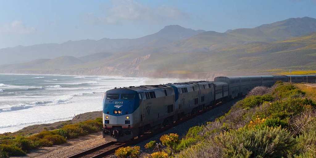 Coast Starlight passes Jalama beach v2